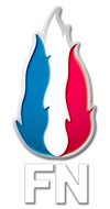 La flamme tricolore, logo du Front national