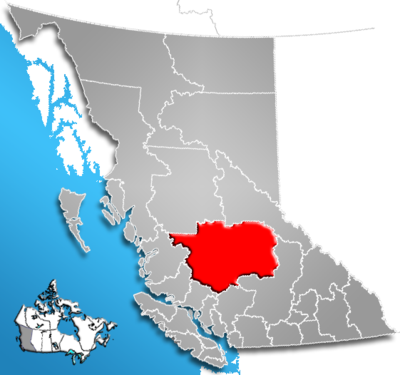 Cariboo Regional District, British Columbia Location.png